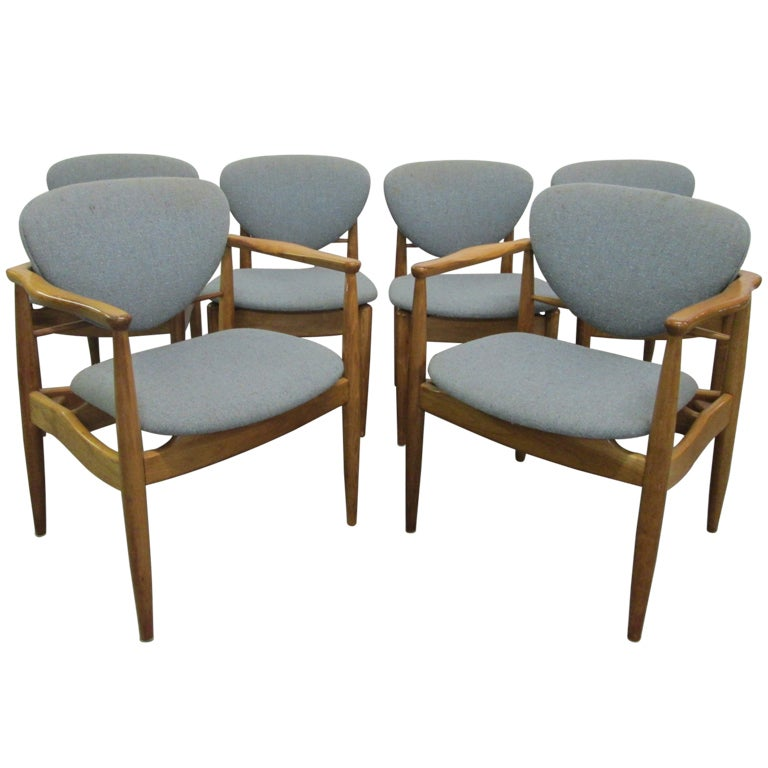 Set 6 John Stuart Dining Chairs At 1stdibs