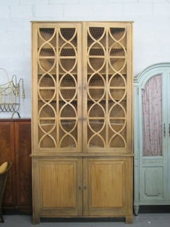 Large French Country Corner Cabinet Cupboard