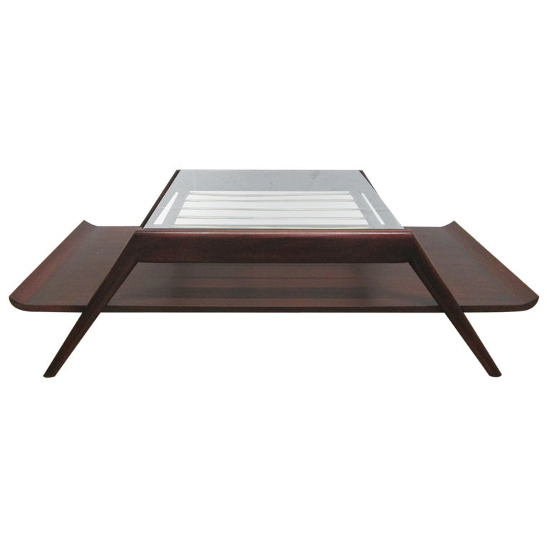 Asian Inspired Pagoda Two Tier Coffee Table For Sale At 1stdibs
