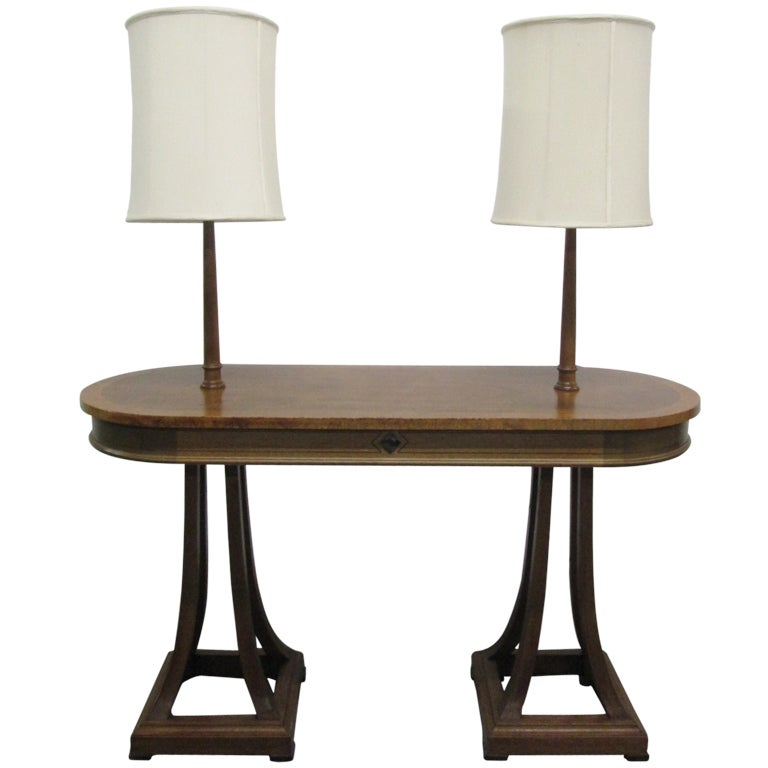 Unique antique style double light console table at 1stdibs for Sofa table lighting
