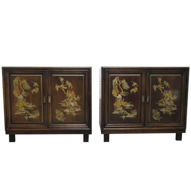Pair asian inspired cabinets at 1stdibs for Asian inspired kitchen cabinets