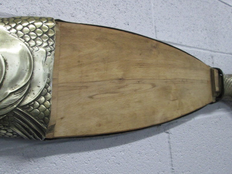 Bronze fish cutting or cheese board for sale at 1stdibs for Fish cutting board