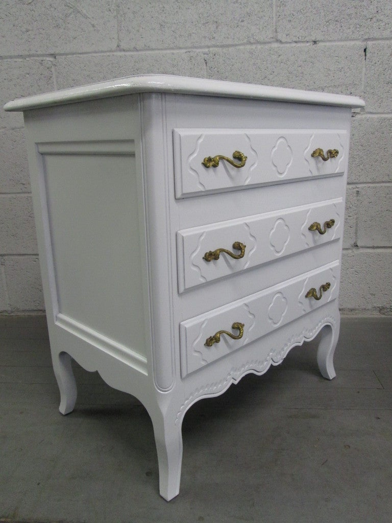 Pair French Style Nightstands Chests 2
