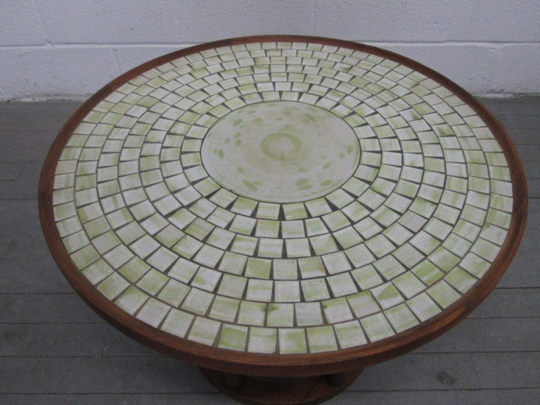 Ceramic Tile Top Table By Gordon Martz 3