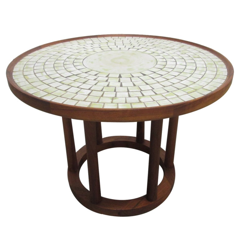 Ceramic Tile-Top Table by Gordon Martz