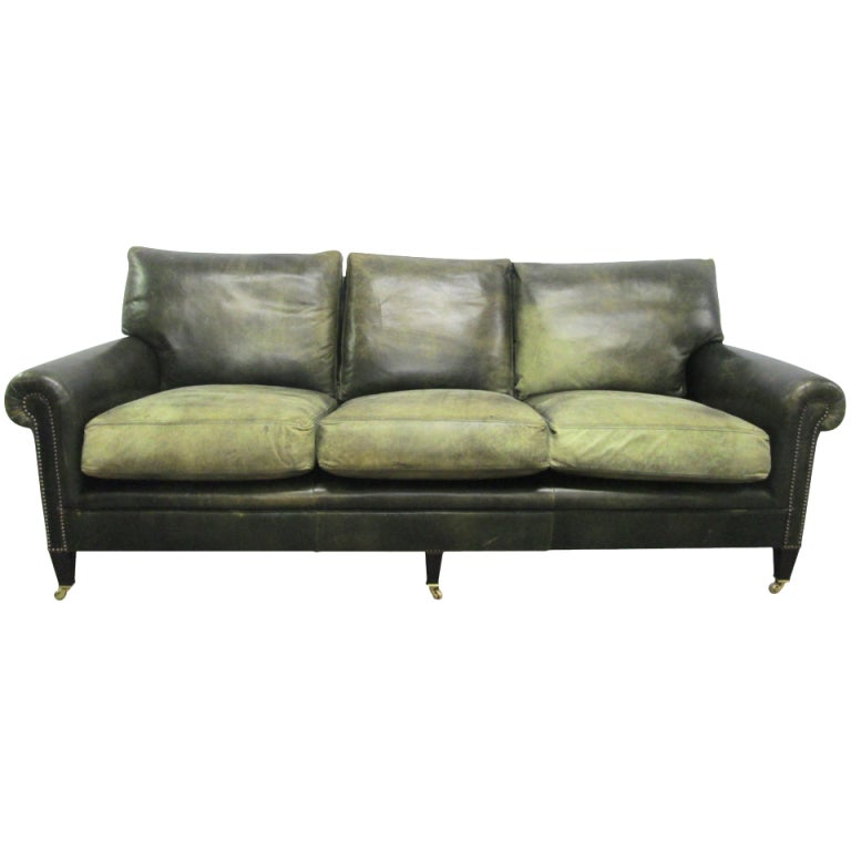 George Smith Leather Sofa At 1stdibs
