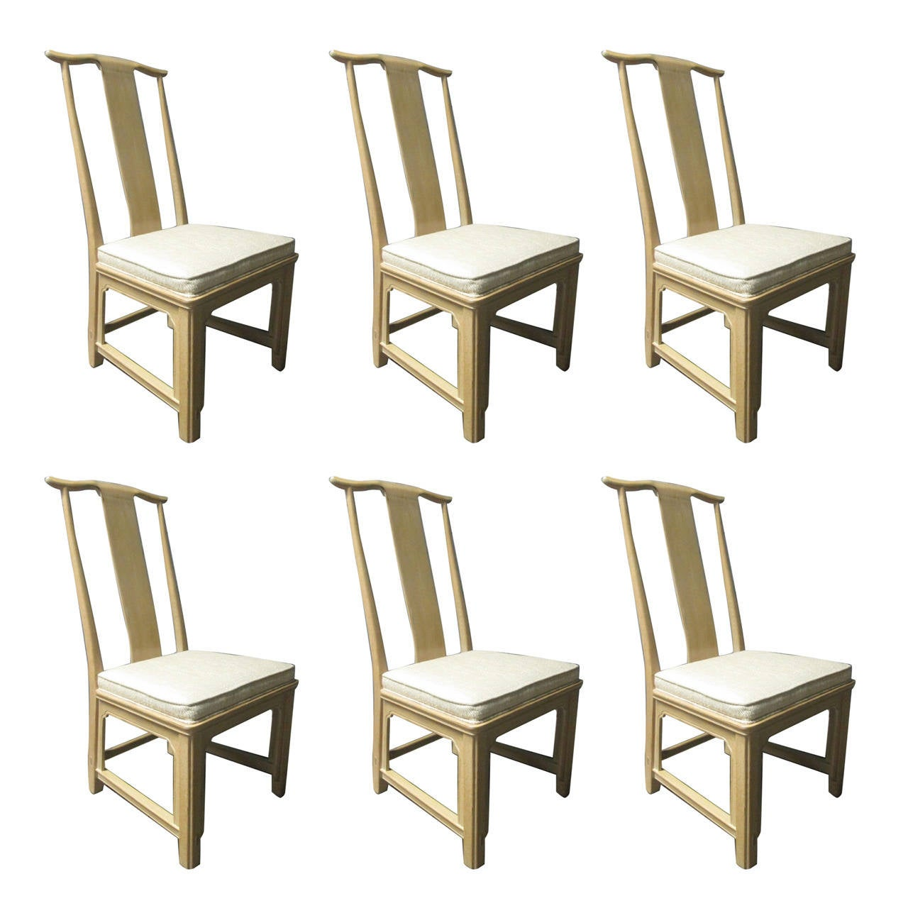 Six Asian Style Dining Chairs By Henredon At 1stdibs