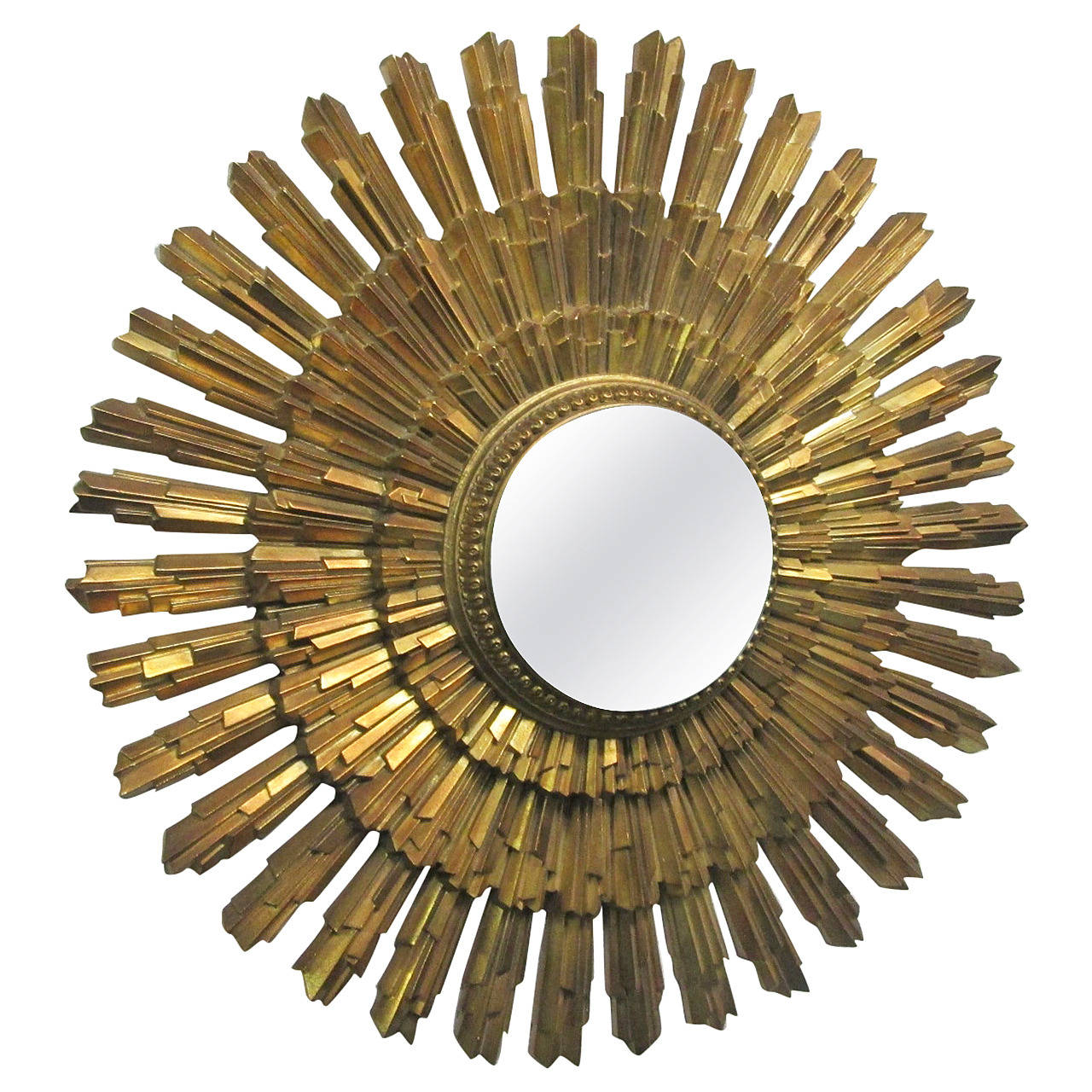 Gold sunburst mirror for sale at 1stdibs for Sunburst mirror