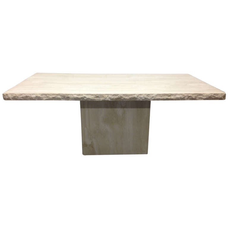 Large Italian Travertine Table