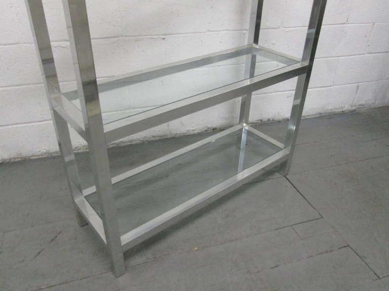 Aluminum etagere w glass shelves at 1stdibs - Etagere aluminium design ...