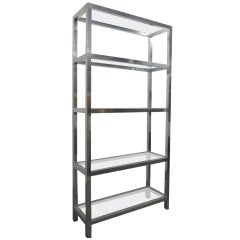 Aluminum Ètagerè with Glass Shelves