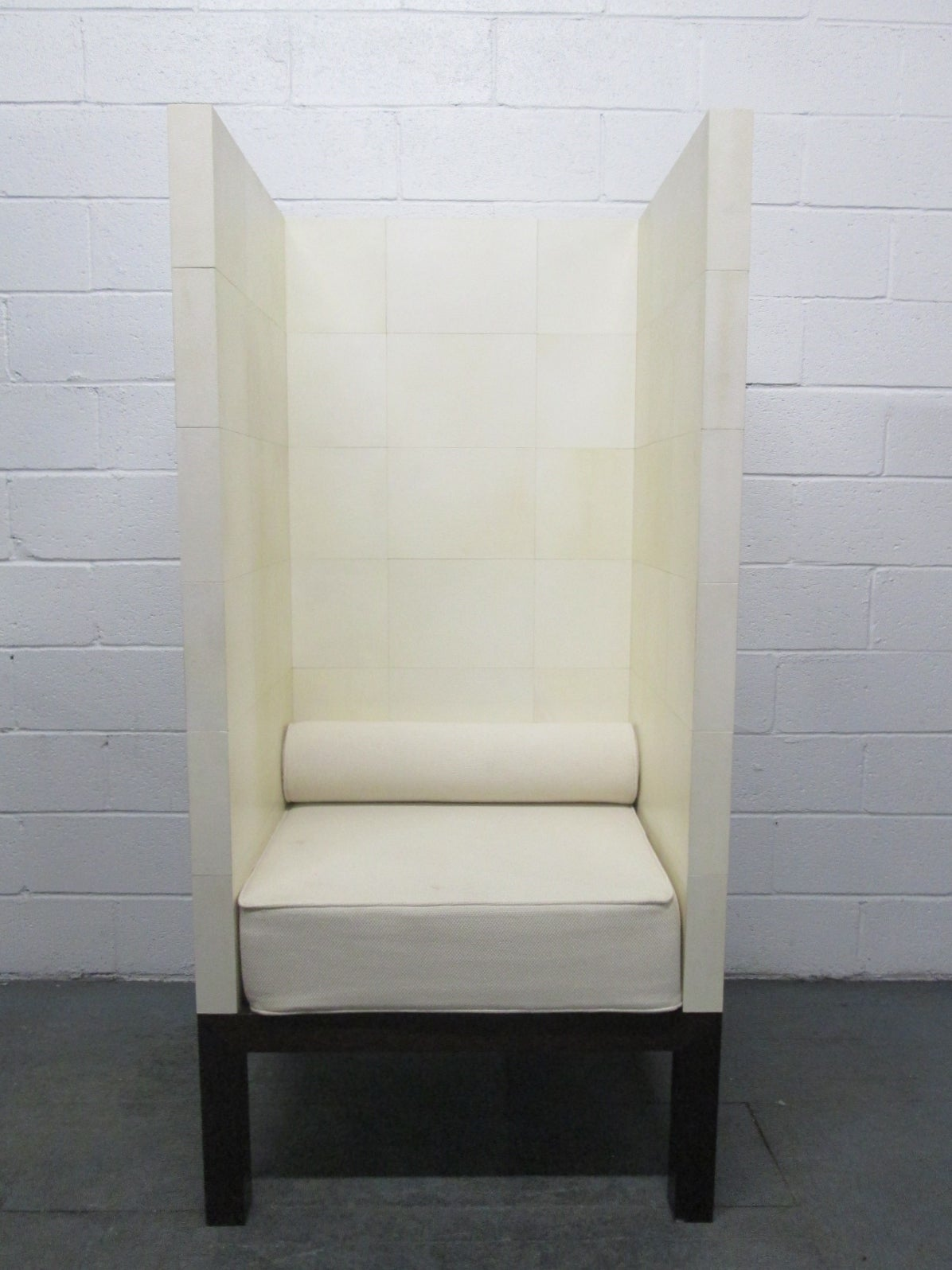 Unique High Back Parchment Chair For Sale At 1stdibs