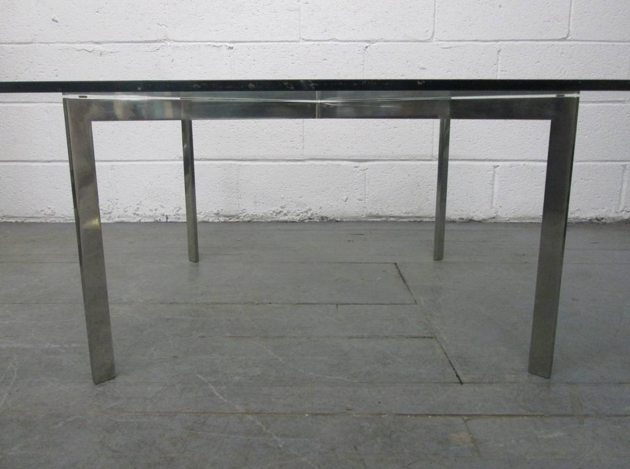 barcelona table base by mies van der rohe for knoll at 1stdibs. Black Bedroom Furniture Sets. Home Design Ideas