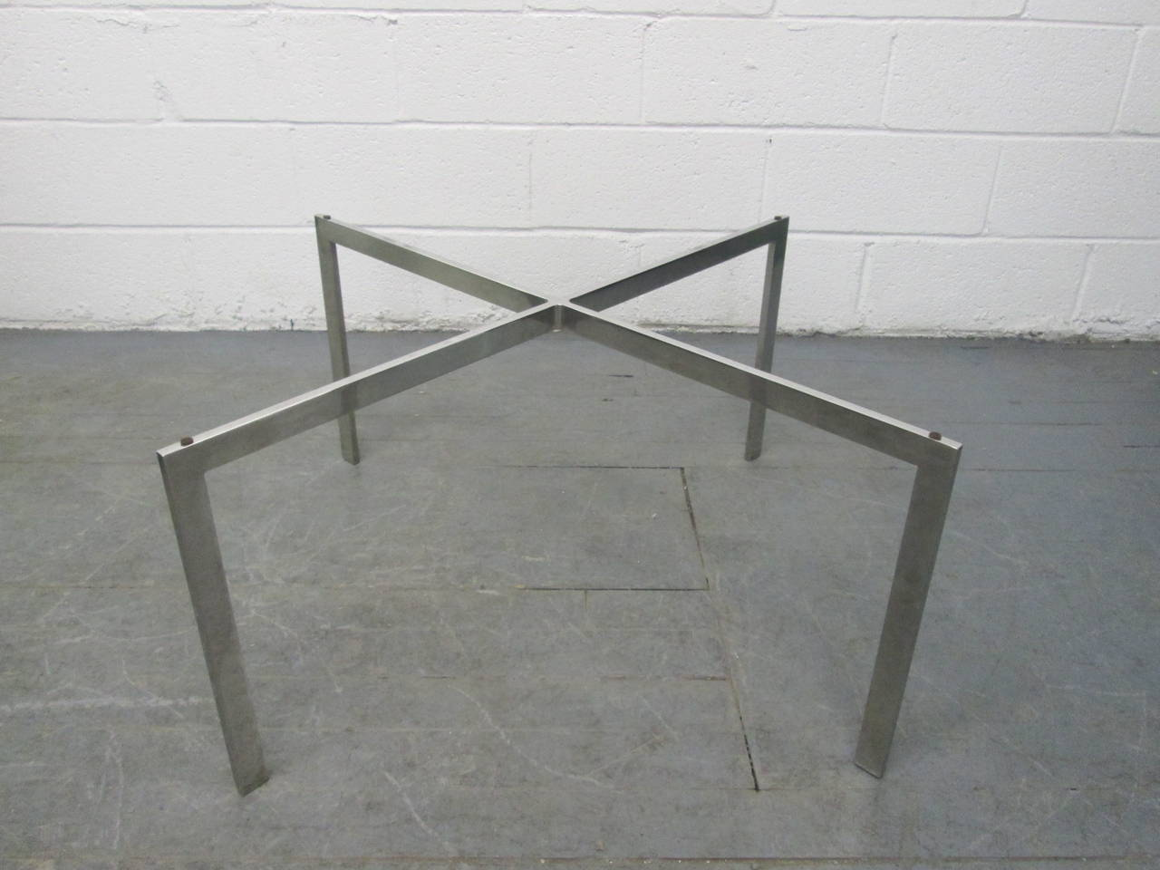 Barcelona table base by mies van der rohe for knoll for sale at 1stdibs - Barcelona table knoll ...