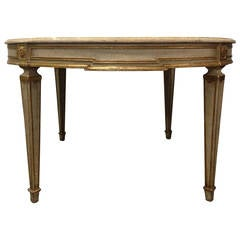 Swedish Gustavian Style Painted and Gilt Dining Table