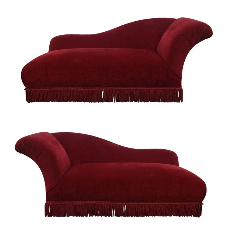 Two french art deco chaise lounges at 1stdibs for Art deco chaise lounge