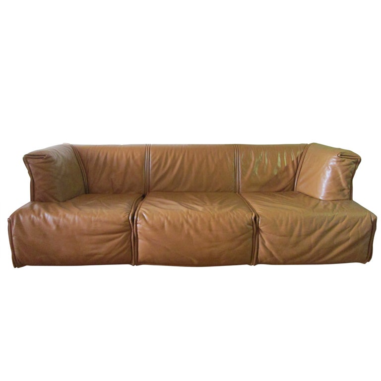 Unusual Sofas For Sale: Unique Italian Leather Sofa For Sale At 1stdibs
