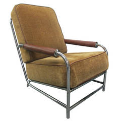Streamline Chrome Lounge Chair After Gilbert Rohde