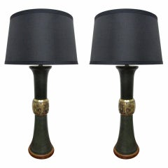 Pair of James Mont Style Lamps