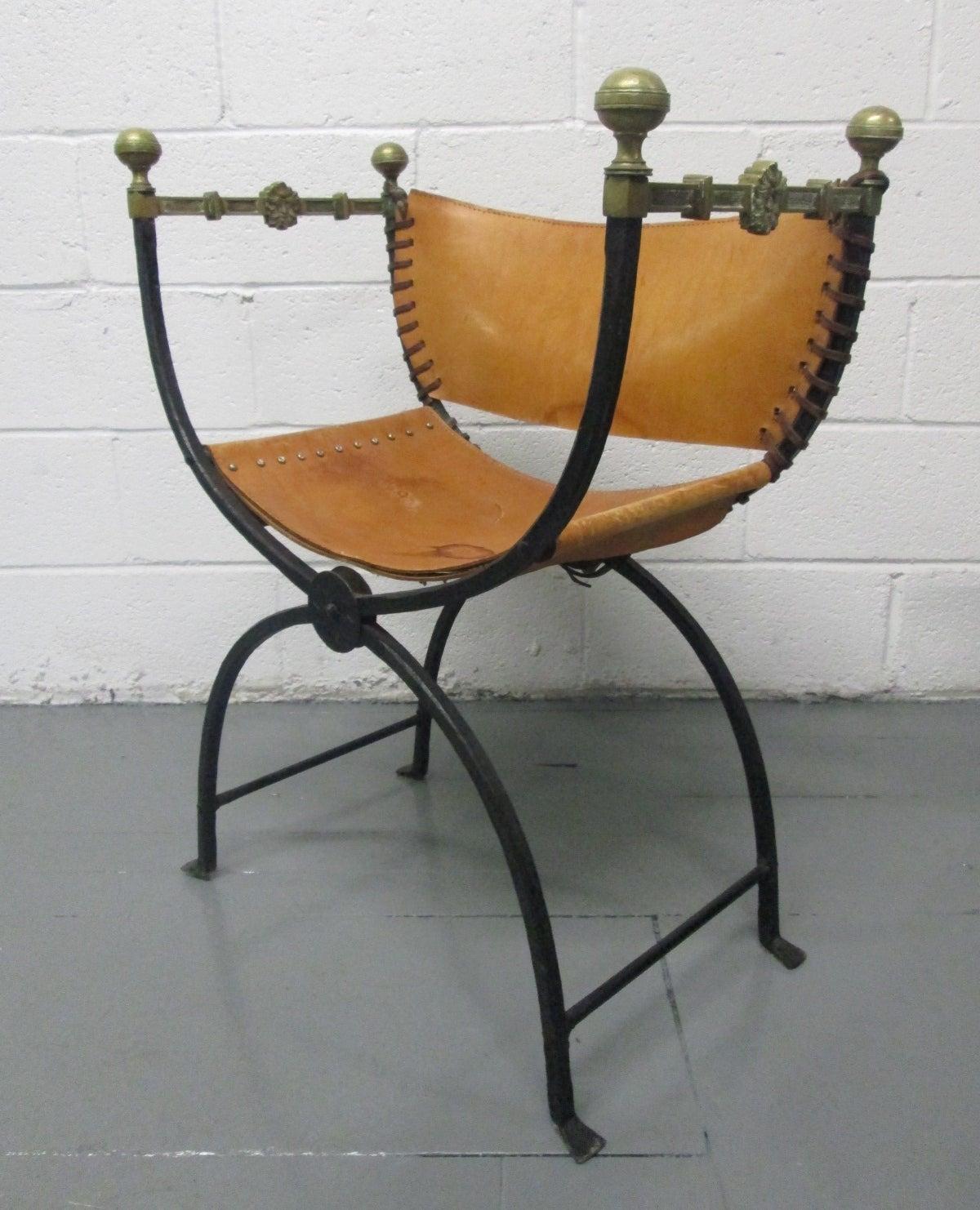 Modern savonarola chair - Italian Curule Savonarola Chair 3