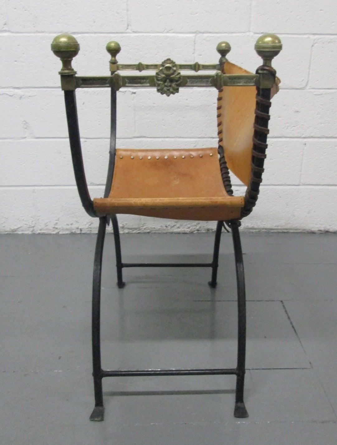 Modern savonarola chair - Italian Curule Savonarola Chair 2