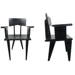 Pair of French Armchairs in the Manner of Jean Prouve