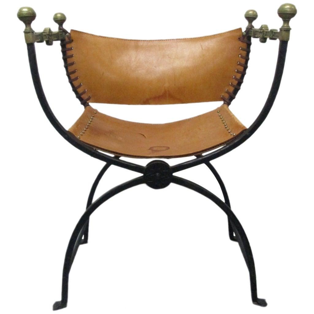 Italian curule savonarola chair for sale at 1stdibs for Chair in italian