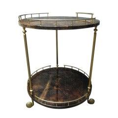 Aldo Tura Goatskin Bar or Serving Cart