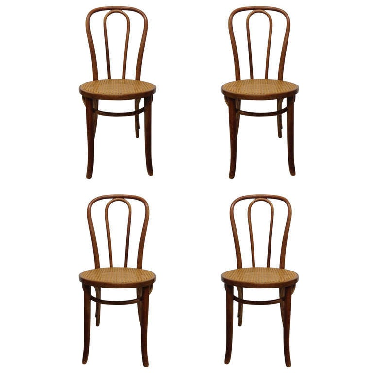 Four Bentwood Thonet Style Chairs At 1stdibs