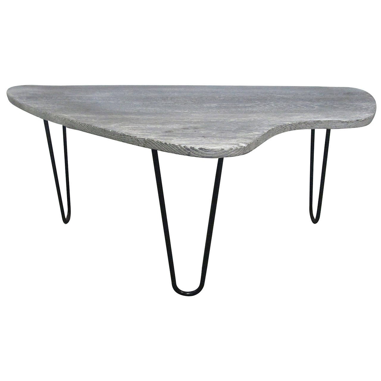 French Cerused Organic Form Coffee Table