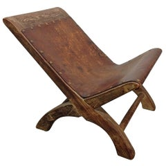 Petite Leather Chair by William Spratling