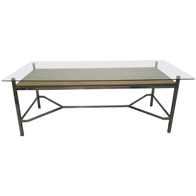 Leon Rosen for Pace Collection Chrome Desk