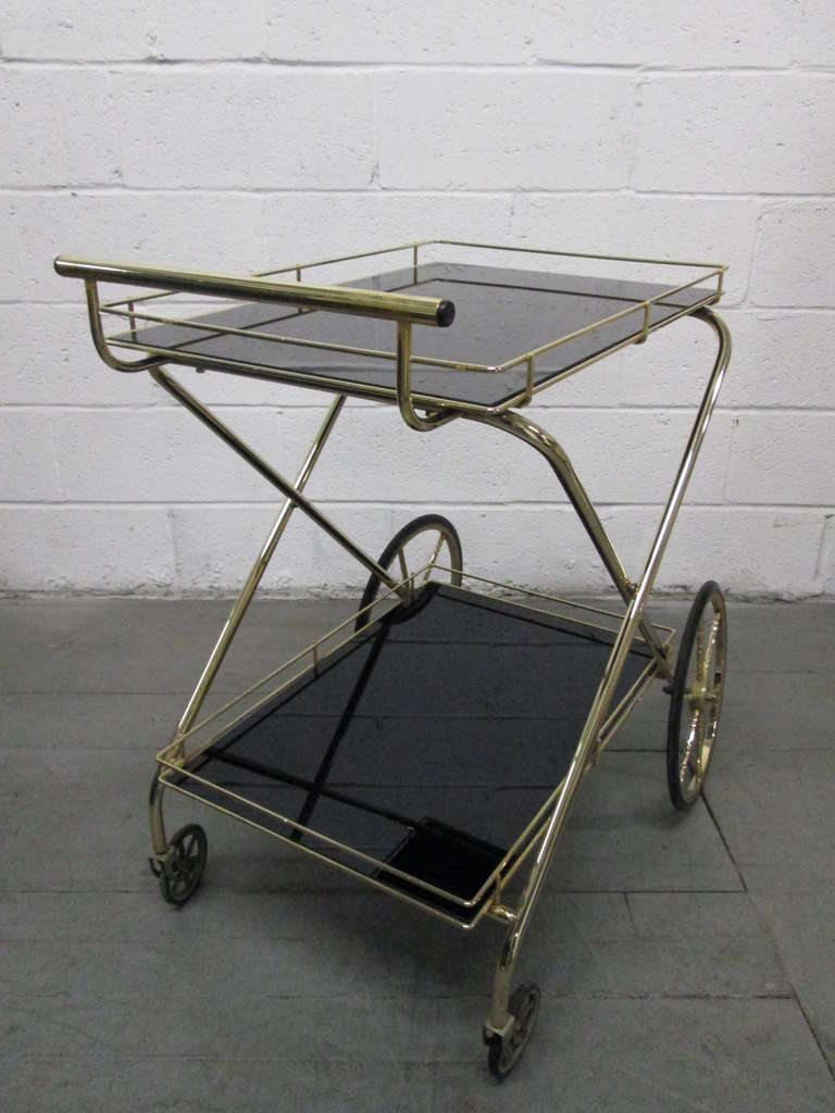 Two-Tier Bar Cart In Good Condition For Sale In New York, NY