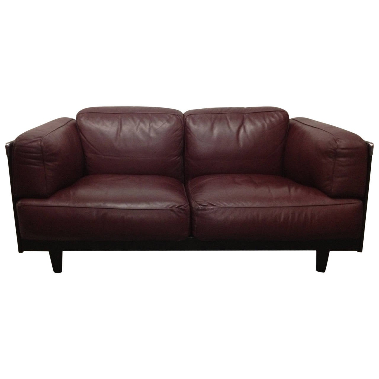leather sofa by poltrona frau for sale at 1stdibs. Black Bedroom Furniture Sets. Home Design Ideas