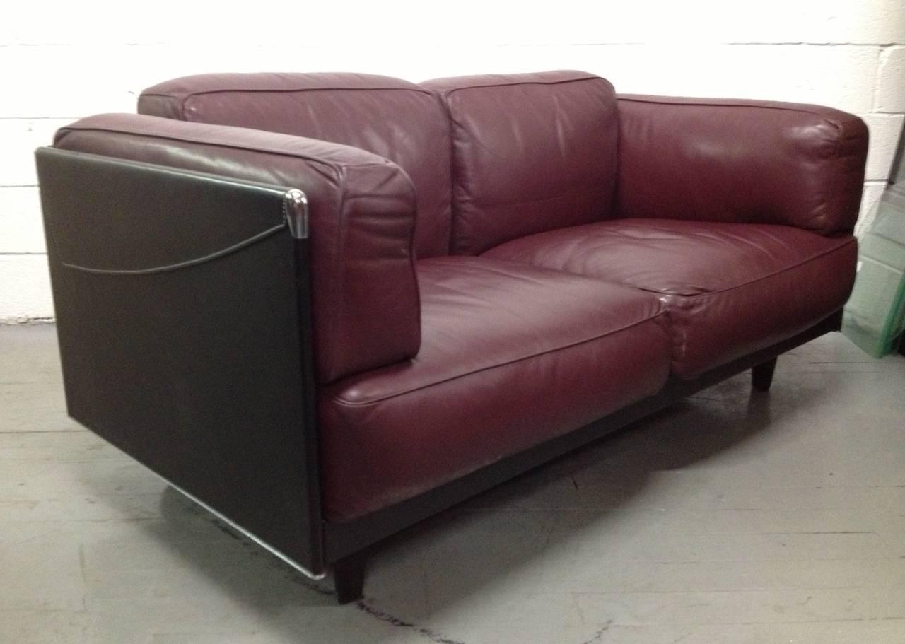 Leather sofa by poltrona frau at 1stdibs - Leather Sofa By Poltrona Frau 2