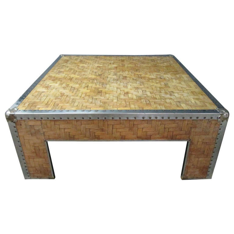 Bamboo Coffee Table At 1stdibs
