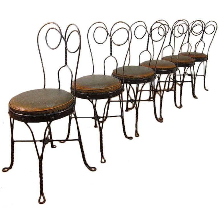 Set Of 6 Vintage Ice Cream Parlor Chairs 1