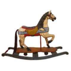 Vintage Hand-Painted Rocking Horse