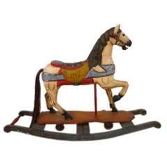 Vintage Hand Painted Rocking Horse