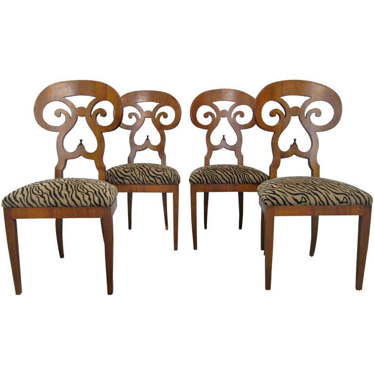 Set 4 Biedermeier Chairs 1