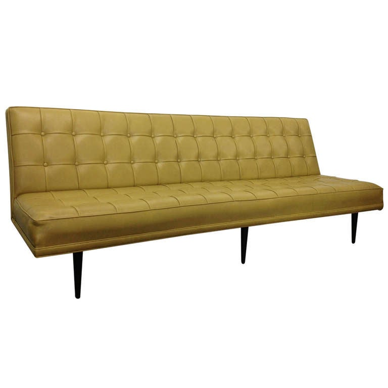 Milo baughman for thayer coggin tufted sofa for sale at for Tufted couches for sale
