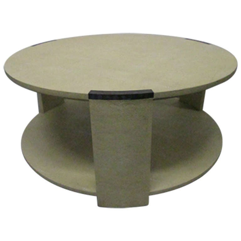 two tier shagreen coffee table for sale at 1stdibs
