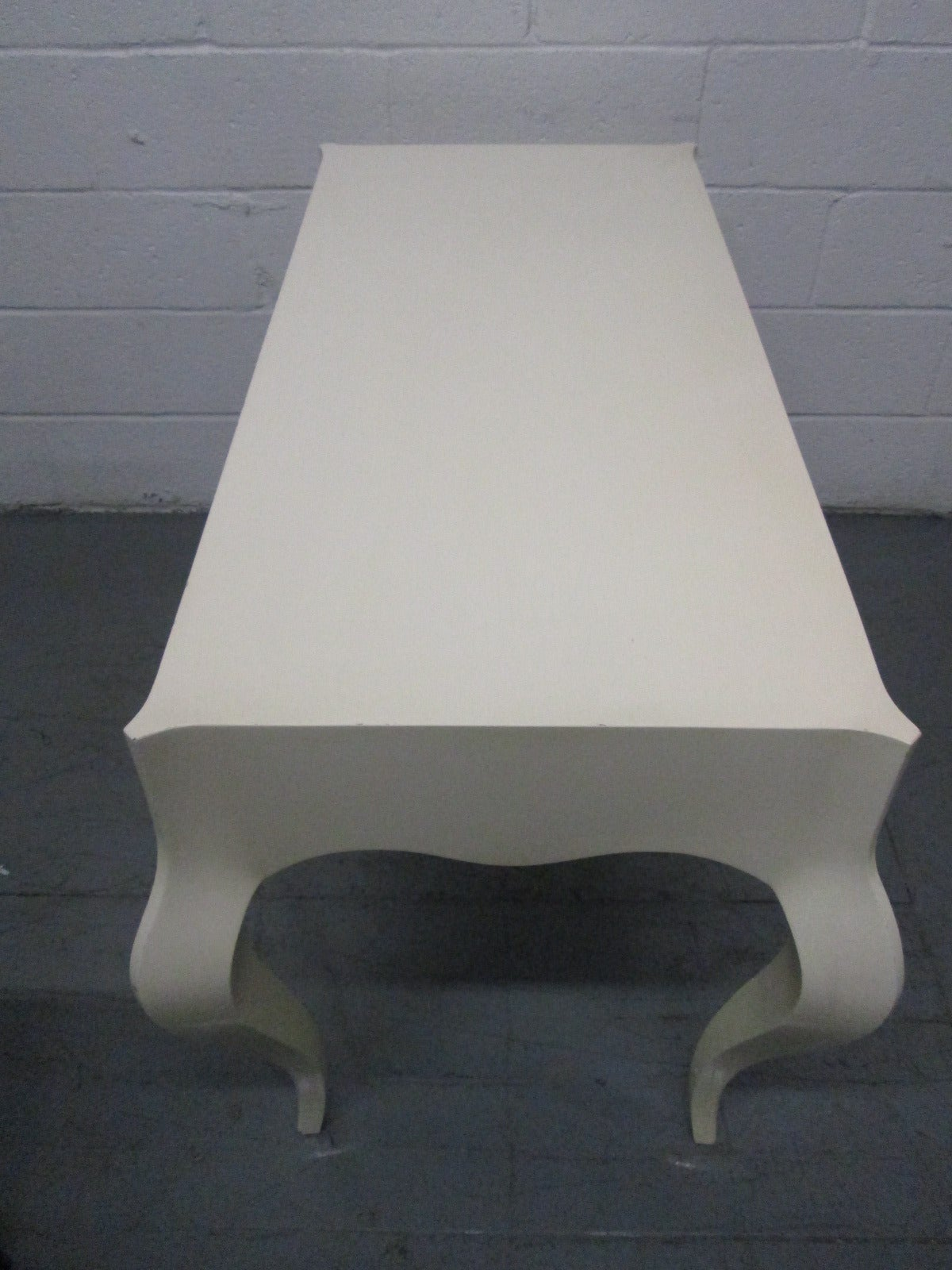 Wood Custom Painted Grosfeld House Style Table For Sale