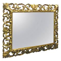 Carved Wooden Gilt Mirror