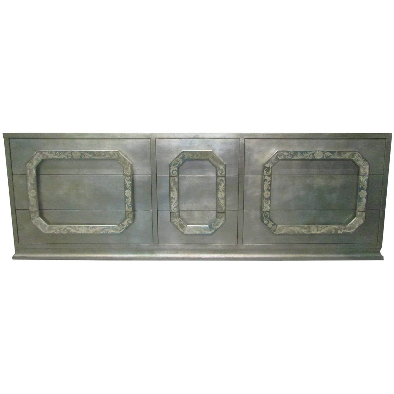 Silver Leaf Dresser in the style of James Mont