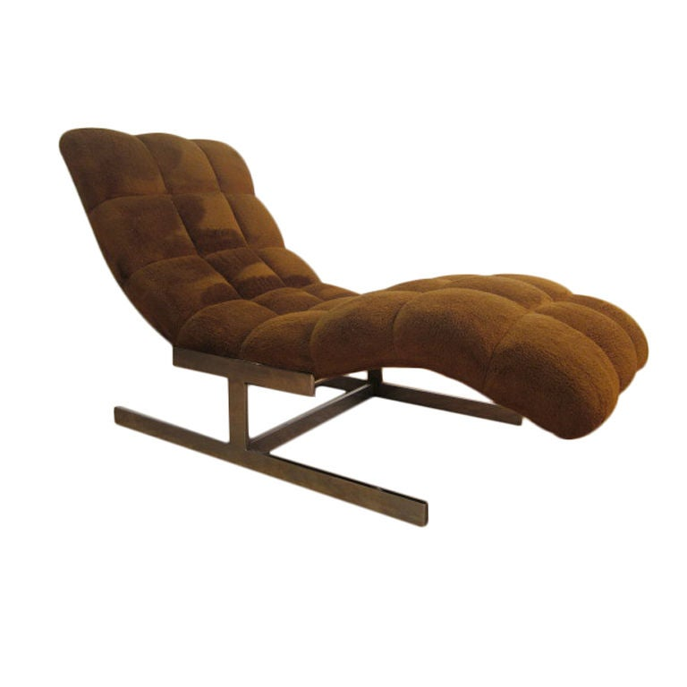 Milo baughman wave chaise longue at 1stdibs for Chaise longue wave