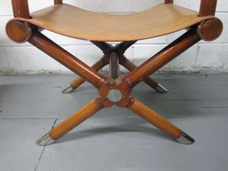 Sensational Pair Of Ralph Lauren Leather Directors Chairs At 1Stdibs Ibusinesslaw Wood Chair Design Ideas Ibusinesslaworg