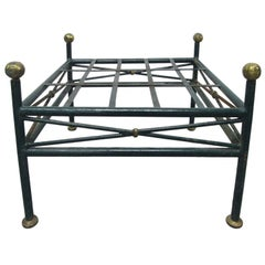 French Painted Wrought Iron Bench