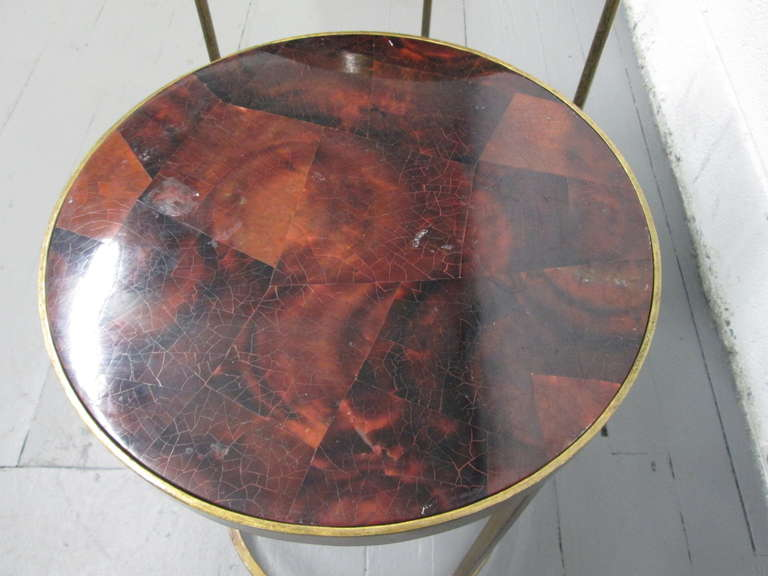 A Pair Of Parchment Top Nest Tables For Sale At 1stdibs