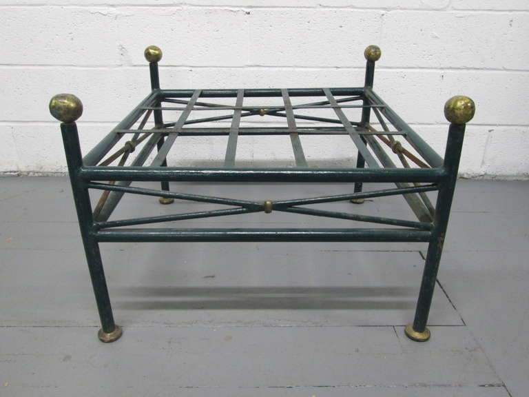 French Painted Wrought Iron Bench For Sale At 1stdibs